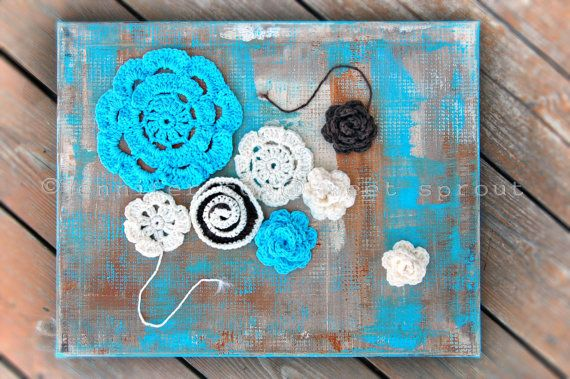 end of winter 20 x 16 CROCHET  PAINTING by ©j.cox @sweetdashsprout on Etsy
