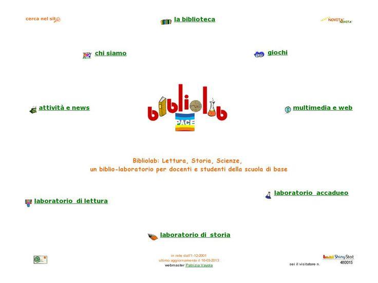 Bibliolab: Lettura, Storia, Scienze,   un biblio-laboratorio per docenti e studenti della scuola di base 'http://www.bibliolab.it/index.htm' courtesy of @Pinstamatic (http://pinstamatic.com)