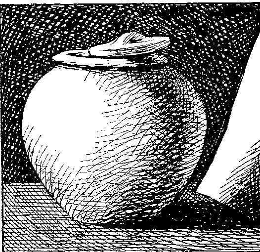 arceren = het maken van schaduwen, dieptes en effecten hoe donkerder hoe meer schaduw.