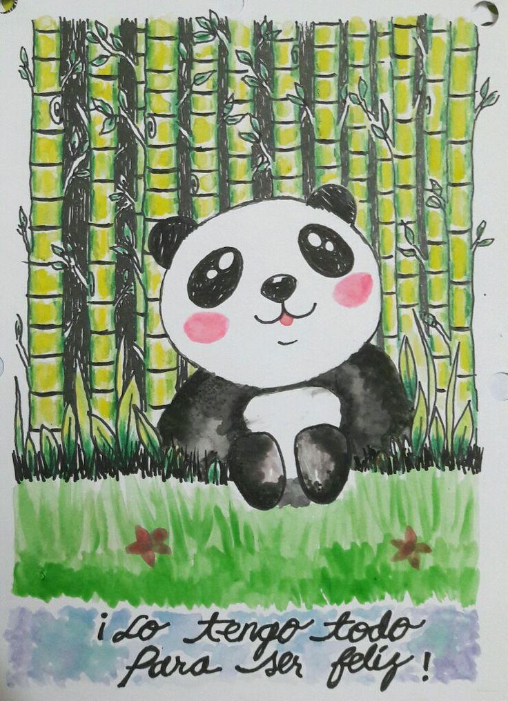 Ilustración: oso acuarela