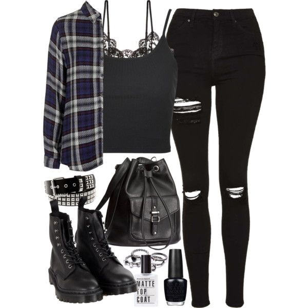 Requested outfit by ferned on Polyvore featuring polyvore, fashion, style, Topshop, Hanky Panky, Dr. Martens, H&M, Hot Topic, OPI and clothing