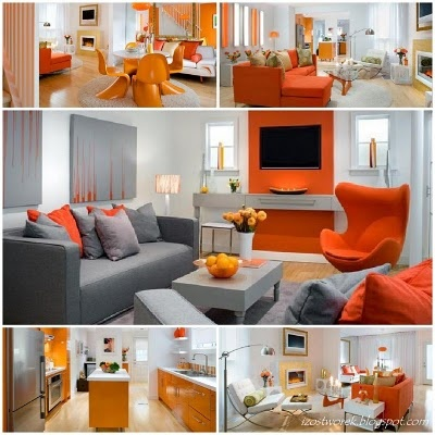 How to make a statement with the colour orange.