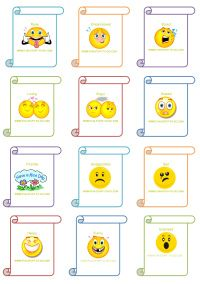 """Having fun with feelings is one great way to help your youngsters build their emotional literacy.  Simply download these and encourage your child to act out the feelings.  An alternative to that would be to have them say, """"I might feel this way if...."""" and fill in the blank."""