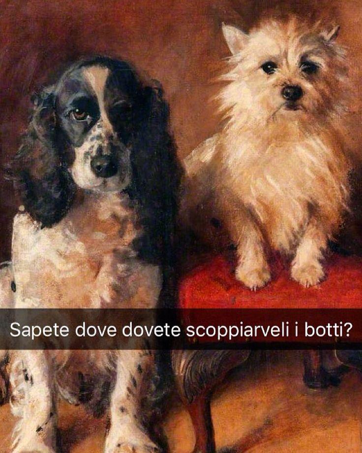Spaniel e Terrier - Samuel Fulton (1895) Snapchat: stefanoguerrera #seiquadripotesseroparlare #stefanoguerrera