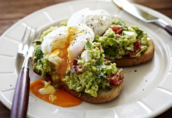 Poached eggs with avocado and feta smash on sourdough Read more at http://kitchen.nine.com.au/2016/05/05/13/32/poached-eggs-with-avocado-and-feta-smash-on-sourdough#MFL7eVvbBZQ5SI9R.99