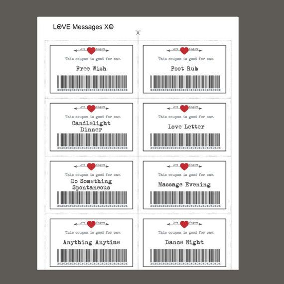 Love Coupons, 39 Printable Coupons, Valentine Printable, Downloadable Gifts, Instant Download, Gift For Her, Gift For Him, Valentines Day A GREAT GIFT FOR THE ONE YOU LOVE! This set of 39 cards will be an unforgettable gift!. Print these cards as much as you want. *** THIS LISTING