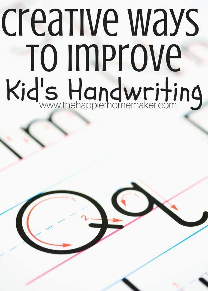 how to make my handwriting better