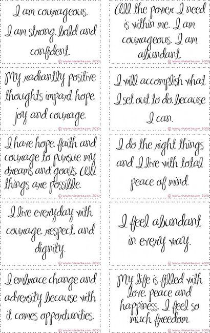 Affirmation Cards on imgfave
