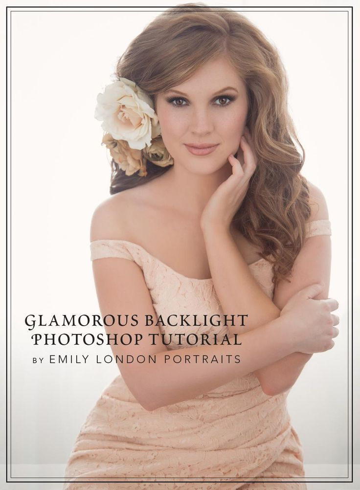 Glamorous Backlight Photoshop Tutorial  In this tutorial, you'll see how Emily London edits a back-lit glamour portrait in Photoshop. Learn how to enhance eyes, add in a catch-light and extra eyelashes, correct skin using the clone stamp tool, change the shape of the hair and clothing using liquify, apply skin asmoothing filter (Aperture Portraiture), and use Alien Skin Exposure 4 for a fine-art look.
