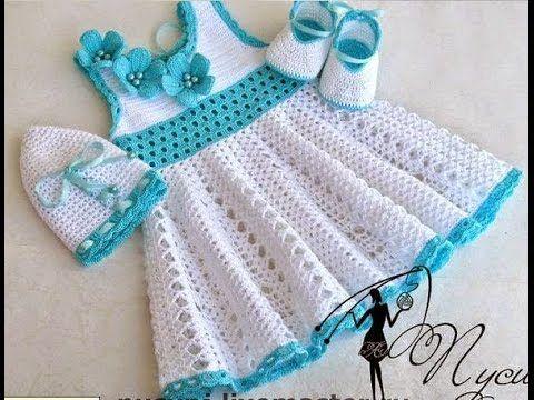 Crochet dress| How to crochet an easy shell stitch baby / girl's dress for beginners 10 - YouTube