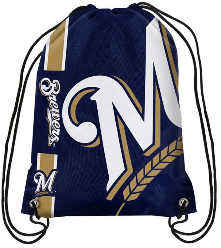 Forever Collectibles Milwaukee Brewers Big Logo Drawstring Bag