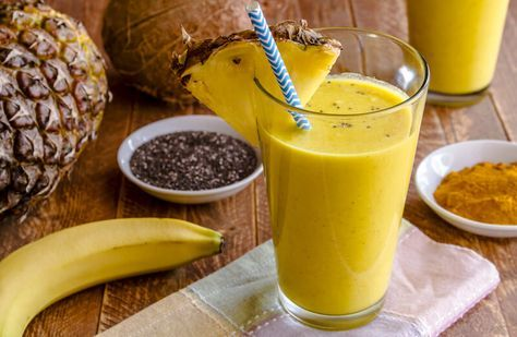 Healing Pineapple Turmeric Smoothie For Strengthening The Tendons and Ligaments In Knees and Joints #herbalmedicine #naturalmedicine #smoothies
