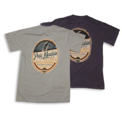Paris Mountain State Park hiking and biking tshirt!  $19.99 in several colors and various sizes.