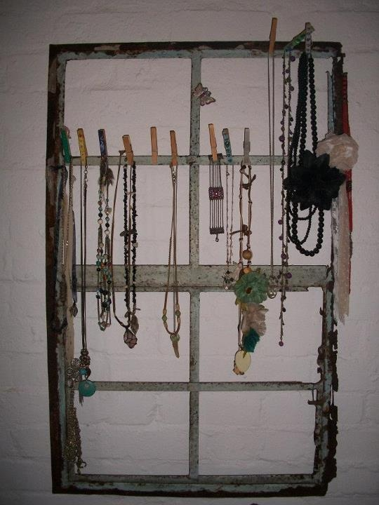 My jewellery rack!. it was too heavy to hang in the kitchen so I decided to use it as a necklace rack.