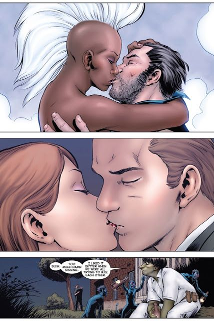 Wolverine and Storm!