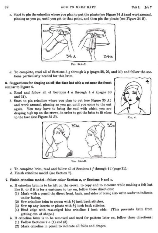 1930s Flapper Hats Making Book (How to Make, Millinery)