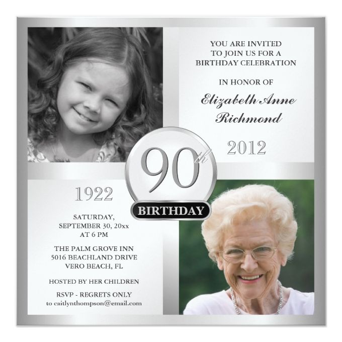 1292 Best 90th Birthday Invitations Images