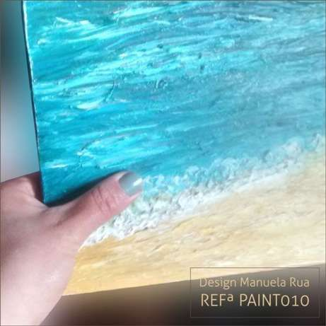 'My Sea'  PAINTING by ManuelaRua 1999 Oil over Canvas.Mixed Tecnique3D.60x50.Want it? Send me an email with your details and shipping address to arq.estela@gmail.com or give me a call - +351933180986