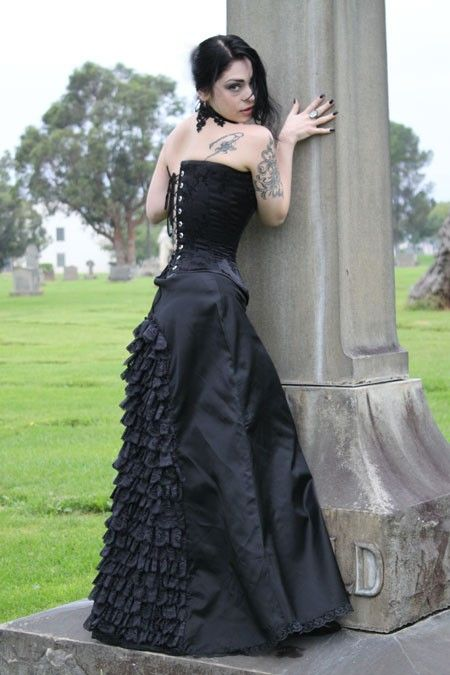 Gothic Edwardian Victorian Mourning Black by nocturnalnostalgia, $198.00