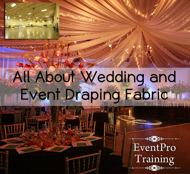 This website has training videos on how to do draping for weddings or events, they sell the product at wholesale prices and if you want to do it as a business they will show you how much it will cost you and what you can make! Awesome Wedding Draping Website!