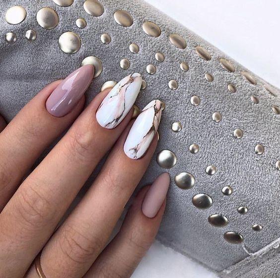 33 stilvolle Marmor-Mandel-Nagel-Entwürfe – Nägel