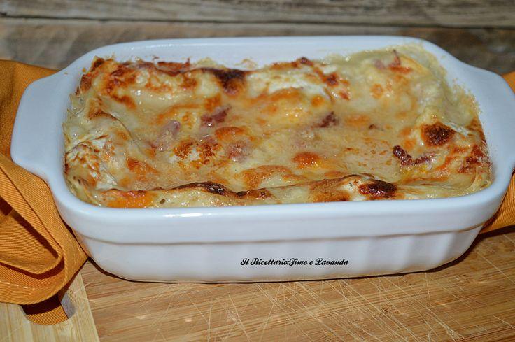 Lasagna con zucca e ricotta #lasagna #ricotta #zucca