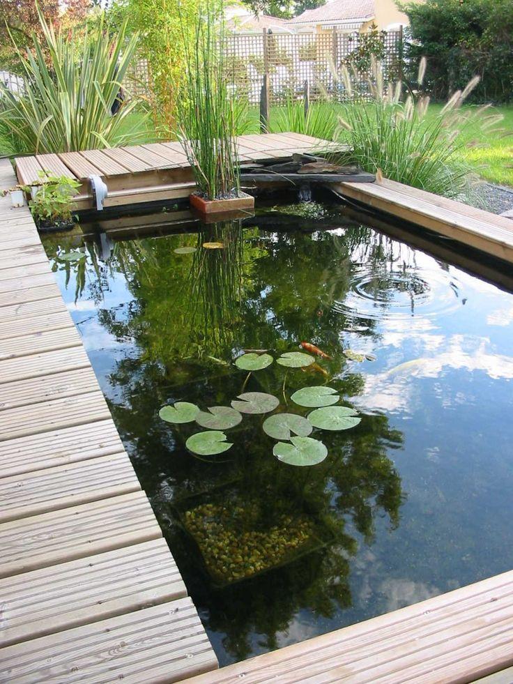 17 meilleures images propos de d co jardin sur pinterest jardins arri re - Petit bassin de terrasse ...