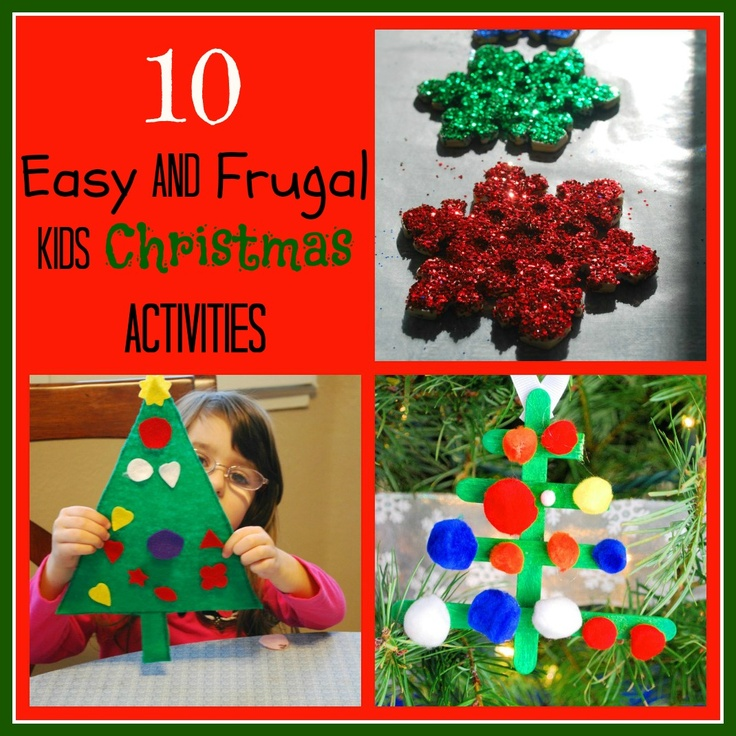 10 Easy and Frugal Kids Christmas Activities