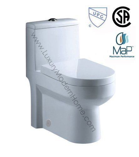 "toilet GALBA 24.5"" 24"" 25"" Inch SMALL TOILET One Piece 24 25 Cupc UPC Short Compact Bathroom Tiny Mini Commode Water Closet Dual Flush Short Projection Shortest Adult CSA upc www.LuxuryModernHome.com,http://www.amazon.com/dp/B00GYR3J10/ref=cm_sw_r_pi_dp_VPb-sb1KD74GAQ5C"