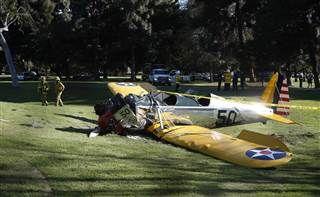 Scene of Harrison Ford plane crash. #HarrisonFord