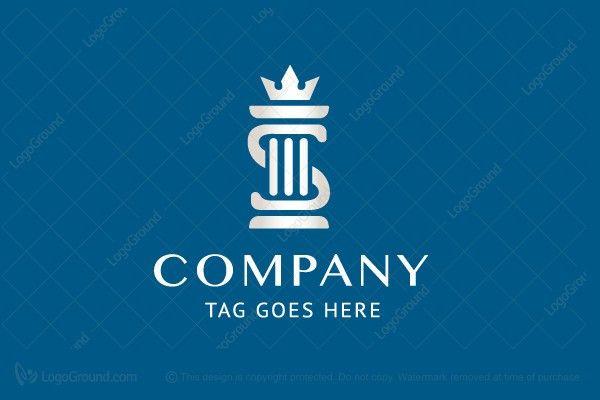 Logo for sale: Sanderson Law Firm Pillar Logo