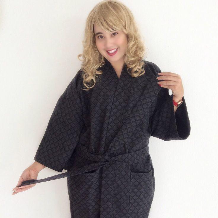 Organic 100 percent natural cotton handmade kimono style bathrobes.