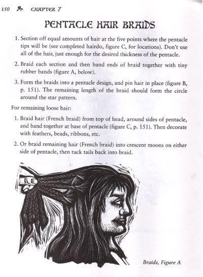 Pentacle hair braids, page one