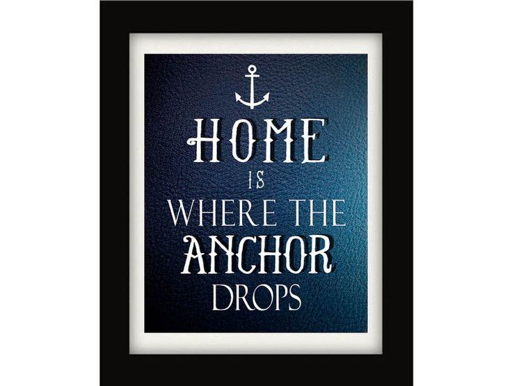 Nautical Print Nautical Quote Home Sweet Home by NauticalDecorShop, $12.00