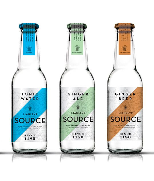 New brand identity for The Source natural spring water   Luxury Package Design