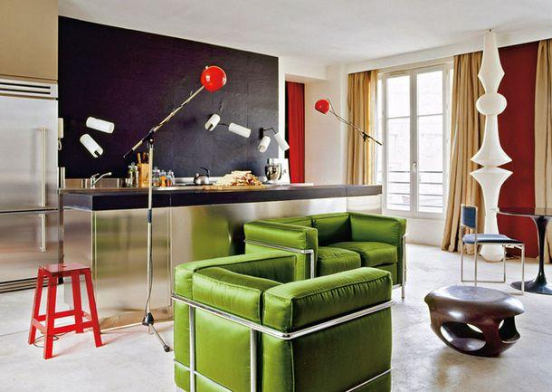 Апартаменты в Париже, дизайнер Эрве ван дер Стратен
