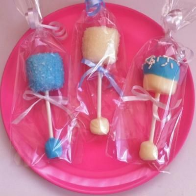 baby rattle marshmallow pops   Ideas for Harley Boo   Pinterest   Baby ...