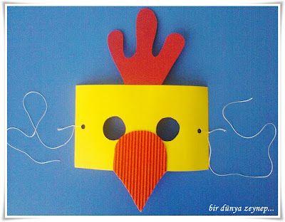 The Little Red Hen (chicken mask)