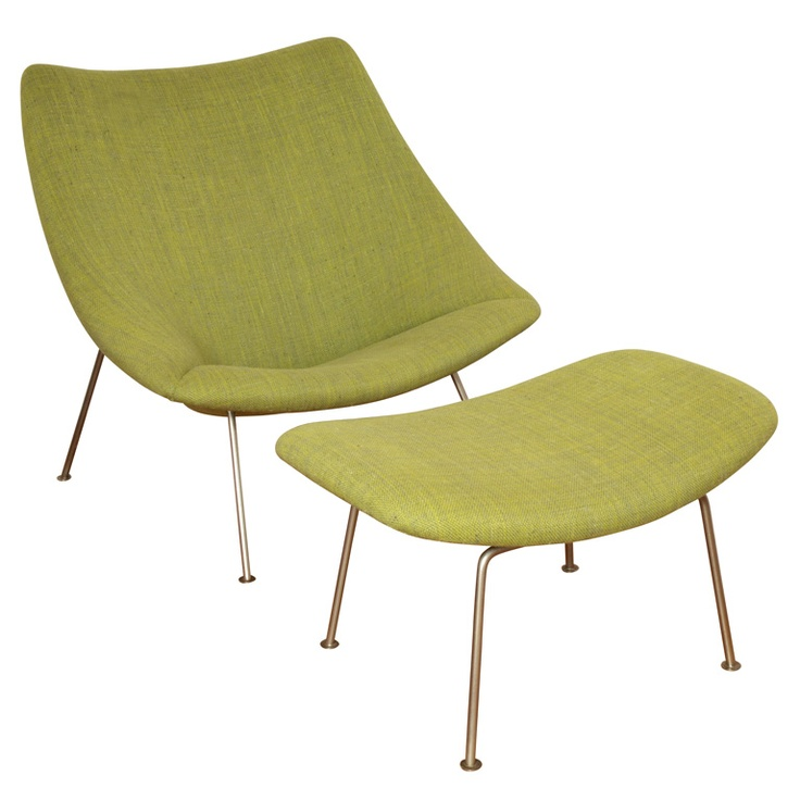 Pierre Paulin Armchair F158 and stool P157 by Artifort 1957. bitchin'