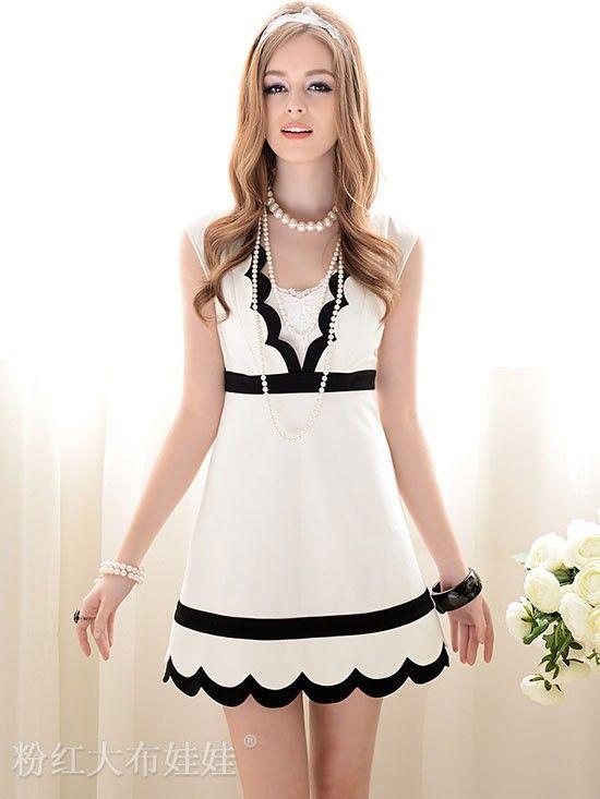 Mango Doll - V-Neck Scalloped Dress , $65.00 (http://www.mangodoll.com/all-items/v-neck-scalloped-dress/)