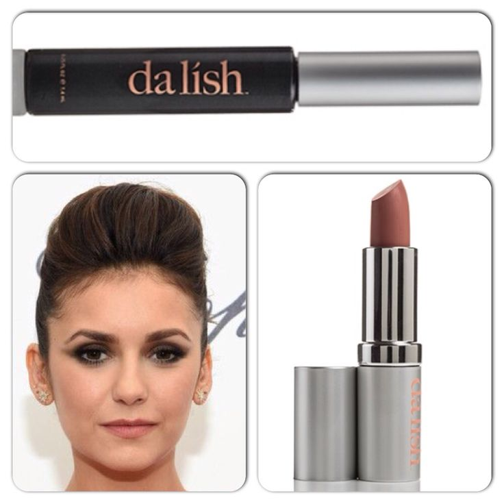 Love this smokey eye that our Canadian cutie Nina Dobrev is wearing. Get this look using our EO4 metallic eyeshadow & LO1 nude matte lipstick. www.instagram.com/dalishcosmetics