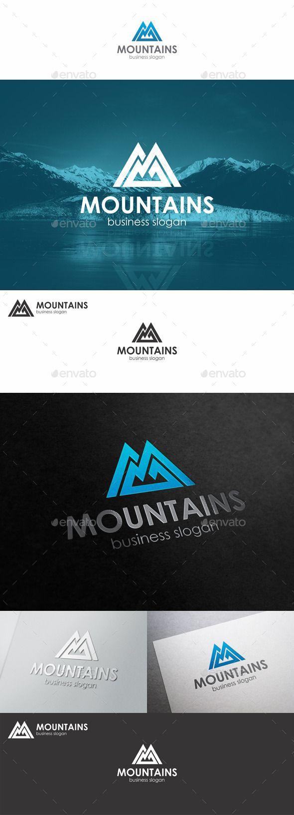 Mountains Logo Monogram M Letter — Vector EPS #ski station #mountains logo • Available here → https://graphicriver.net/item/mountains-logo-monogram-m-letter/10311209?ref=pxcr