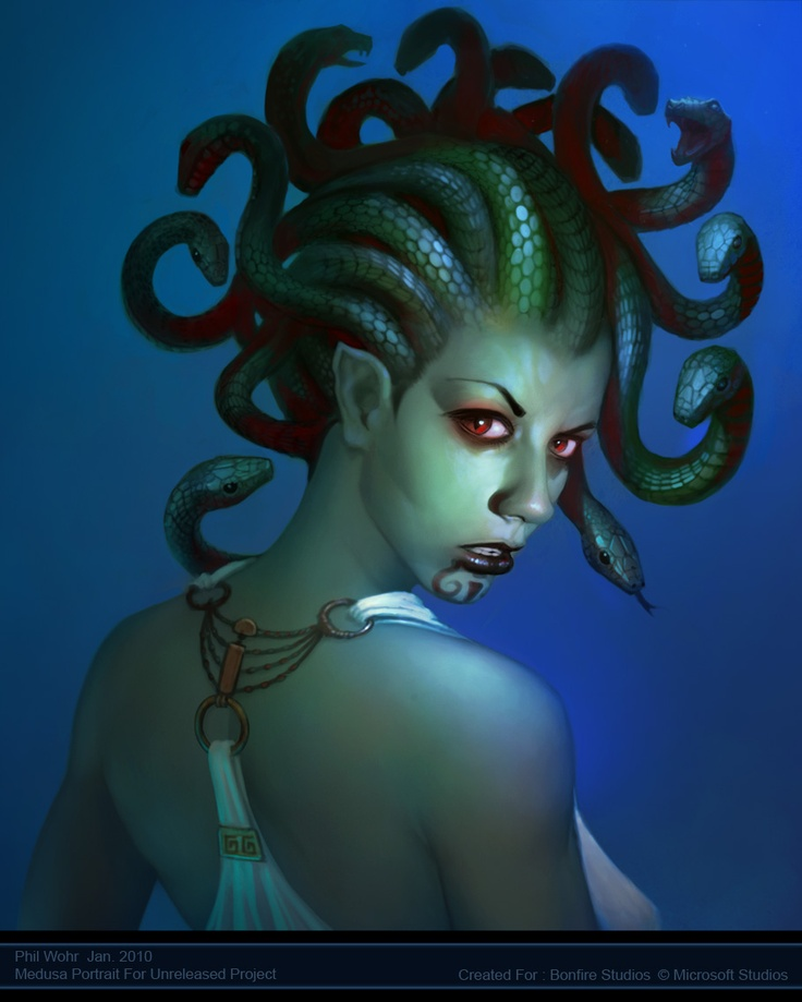 17 Best images about Medusa. on Pinterest | Greek monsters ... |Greek Mythical Creatures Medusa