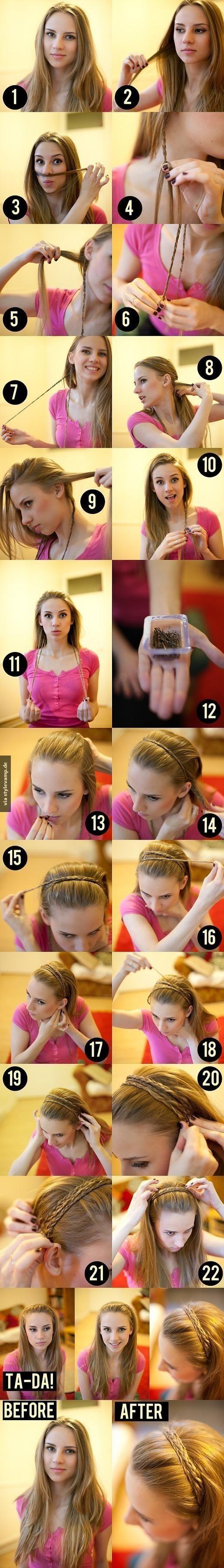 Alternative zum Haare wegstecken!