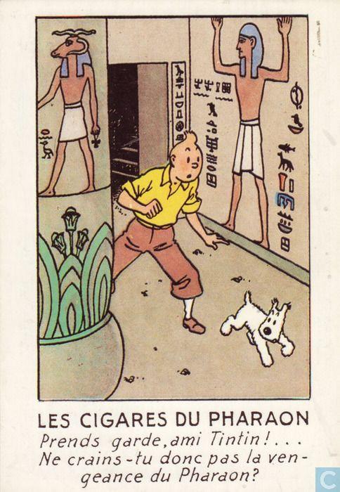 Carte postale - Tintin - Les cigares du pharaon