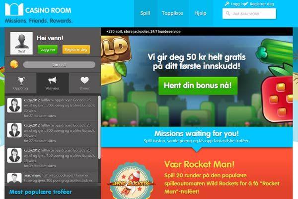 Hos Casino Room kan du finne en rekke nye spilleautomater og noen av de beste bonusene blant de nettcasinoene