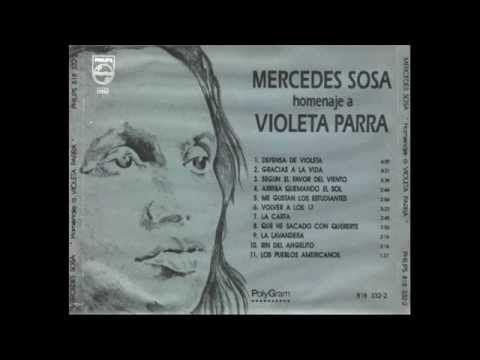 Mercedes Sosa Homenaje a Violeta Parra 1971 álbum completo (full album)