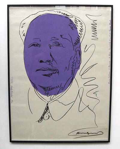 Andy Warhol / USA 1928-1987 screenprint Mao in purple black 1974 signed with felt-tip approx 100 are signed by Warhol in felt-tip in 1979 not numbered