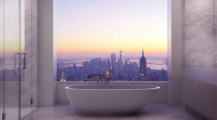 Výhled z jedné newyorské koupelny. Jako není to špatné...