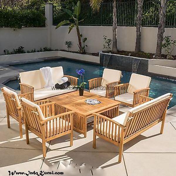 JualKursi Tamu Jari Jari Outdoor Minimalismerupakan Produk Garden Furniture Desain Kursi Minimalis Outdoor dengan Model Kursi Makan Jari Jari Jok Bantalan